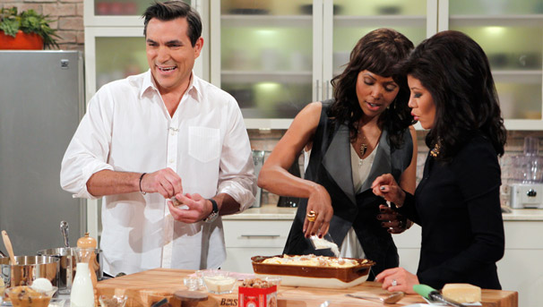 Todd English makes Brunch on the Talk, Food Styling by Gourmet Proppers (Bonnie Belknap)