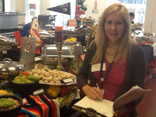 Judging 9 Culinary teams at Le Cordon Bleu, Pasadena Campus, August 2013