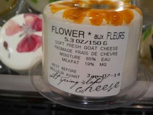 WHOLE FOODS goat cheese flower package